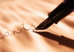 Pena de escrever