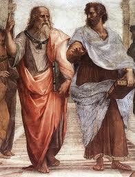 Pintura de Platão e Aristóteles