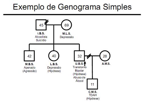 EXEMPLO DE GENOGRAMA